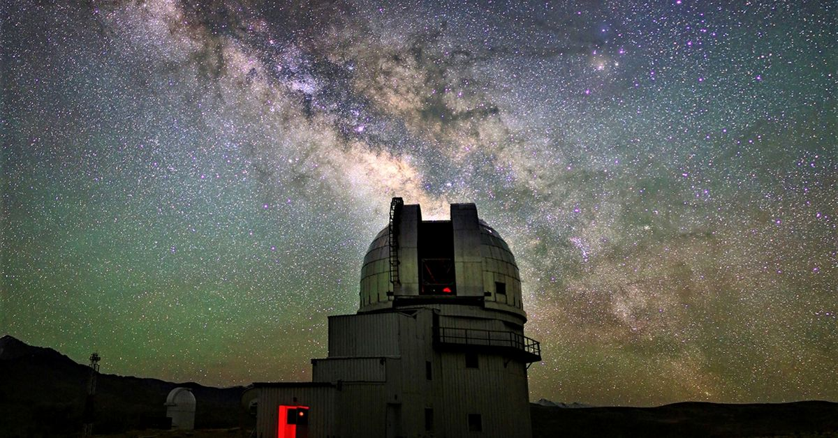 The Himalayan Chandra Telescope at Hanle, Ladakh. This is India's first robotic telescope and important addition to the GROWTH team. Courtesy of : IIA Bengaluru