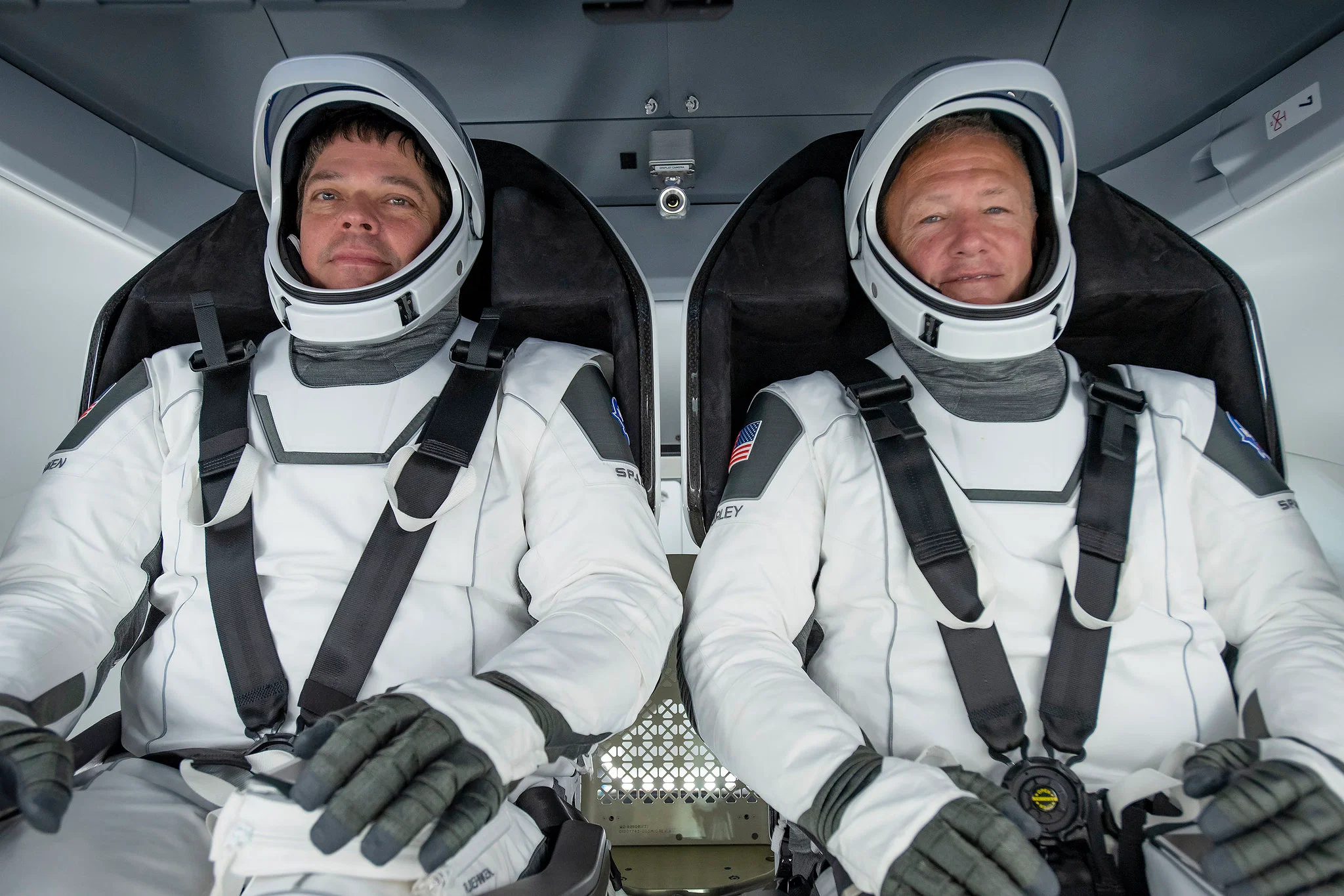NASA astronauts Robert Behnken and Douglas Hurley, the astronauts selected to fly to the ISS for the worl's first private space humanflight mission. Courtesy:SpaceX